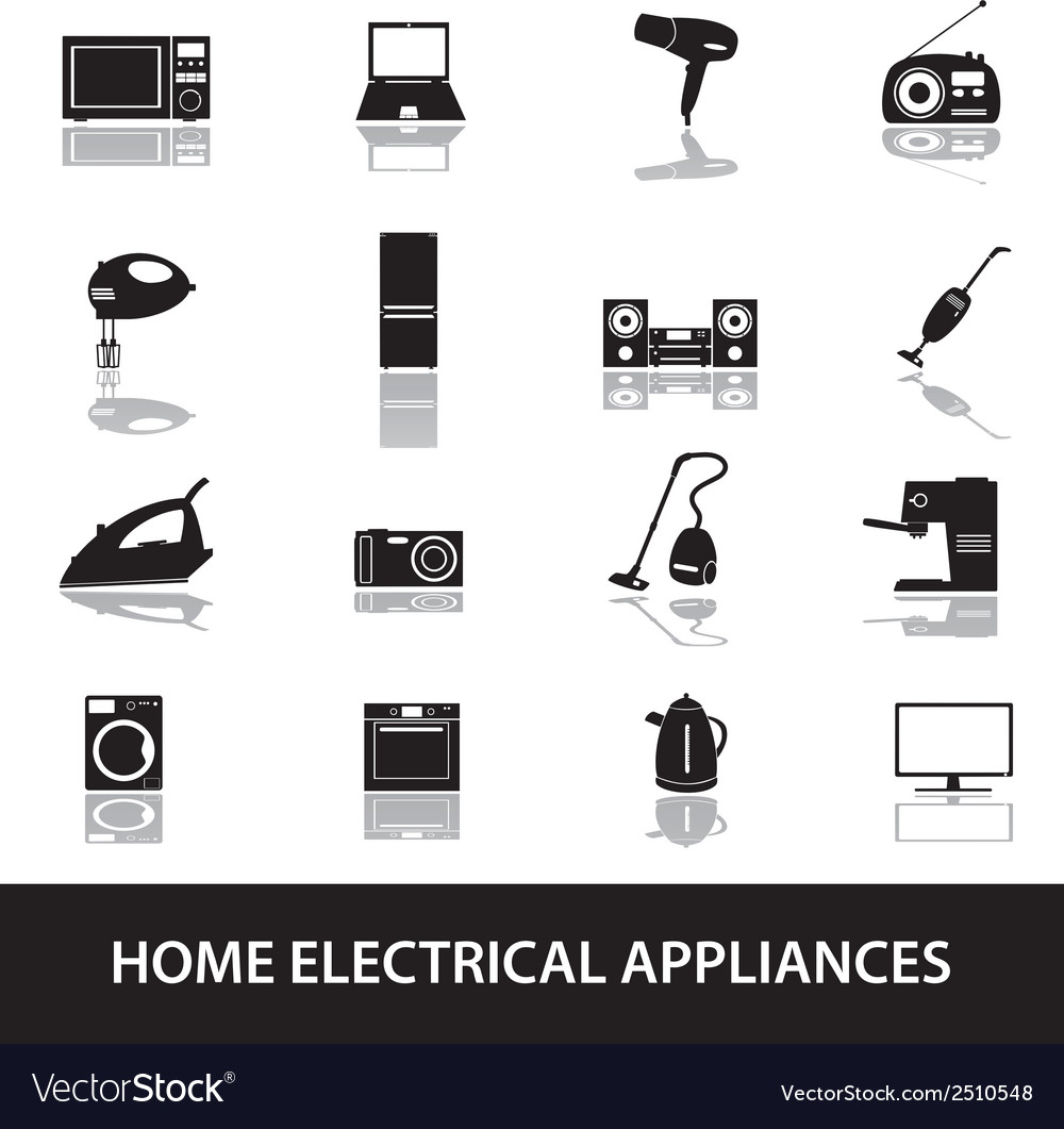 Home electrical appliances eps10 vector | Price: 1 Credit (USD $1)