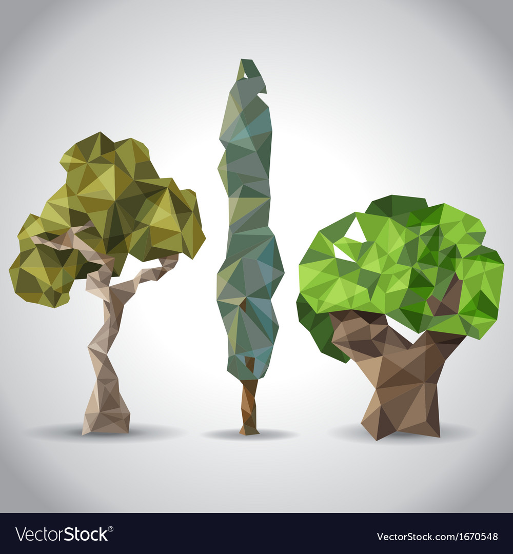 Lowpoly trees vector | Price: 1 Credit (USD $1)