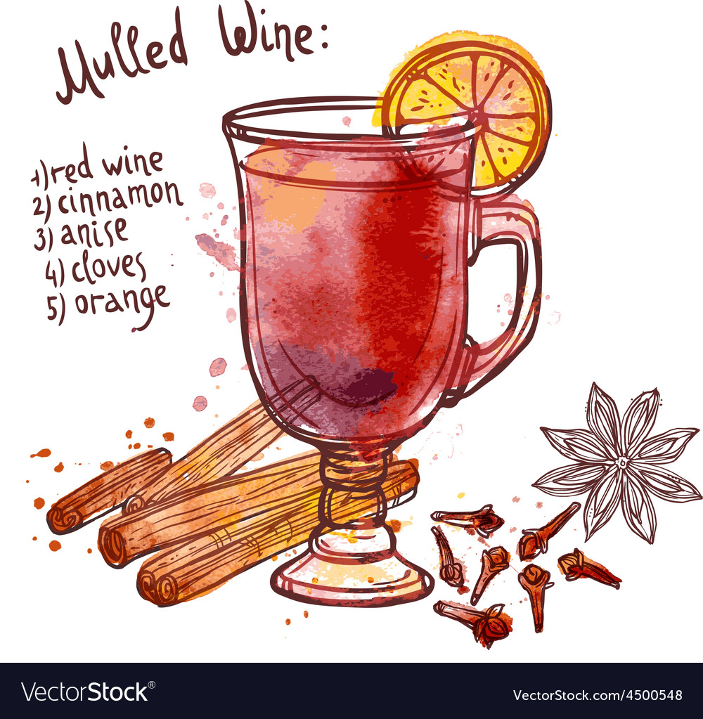 Mulled wine set vector | Price: 1 Credit (USD $1)