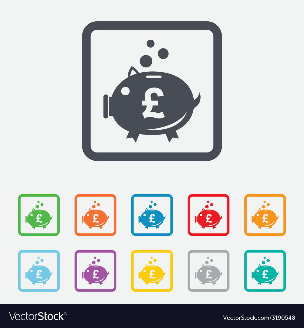 Piggy bank sign icon moneybox symbol vector | Price: 1 Credit (USD $1)