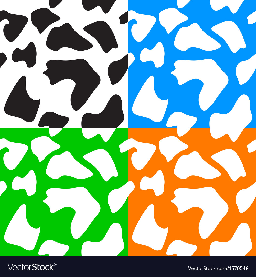 Seamless animal patterns skin fur vector | Price: 1 Credit (USD $1)