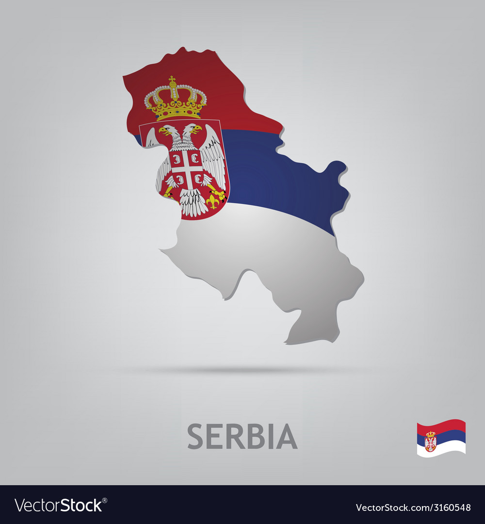 Serbia vector | Price: 1 Credit (USD $1)