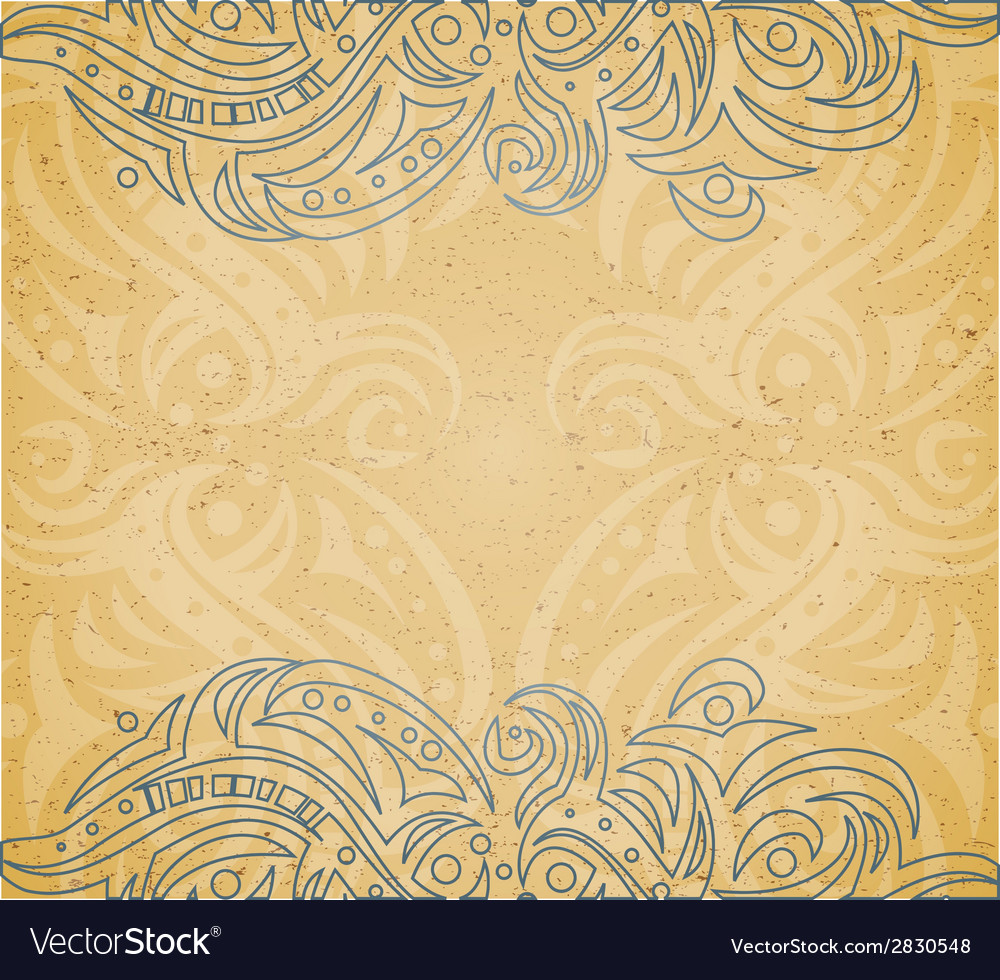 Vintage background with ornament vector | Price: 1 Credit (USD $1)