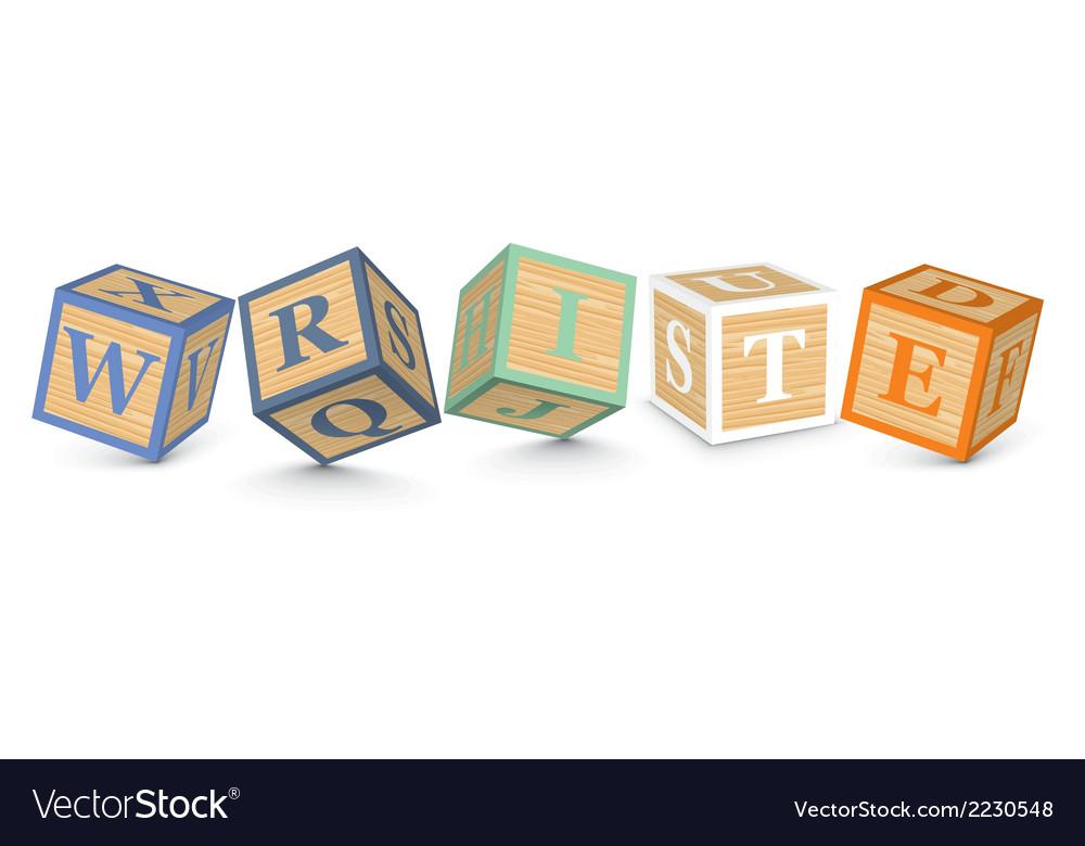 Word write written with alphabet blocks vector   Price: 1 Credit (USD $1)