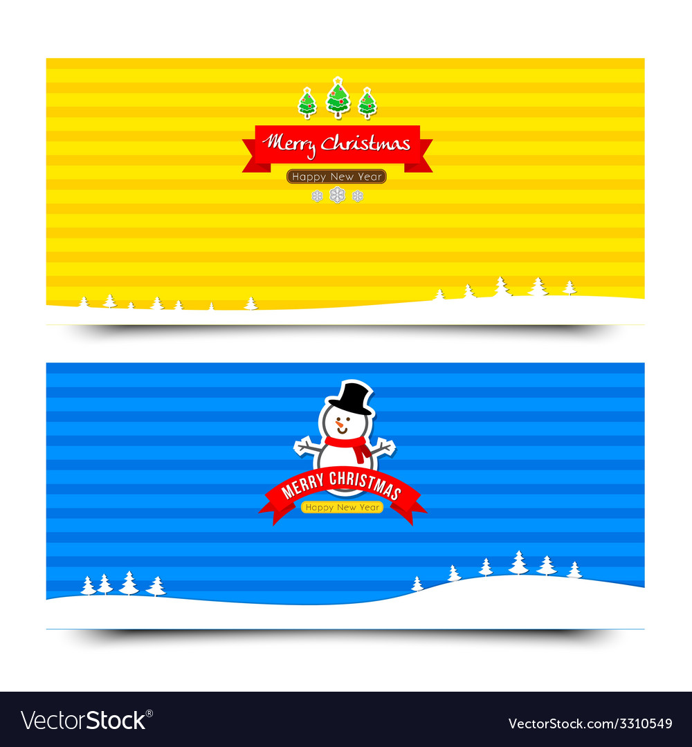 041 merry christmas banner background collection vector | Price: 1 Credit (USD $1)