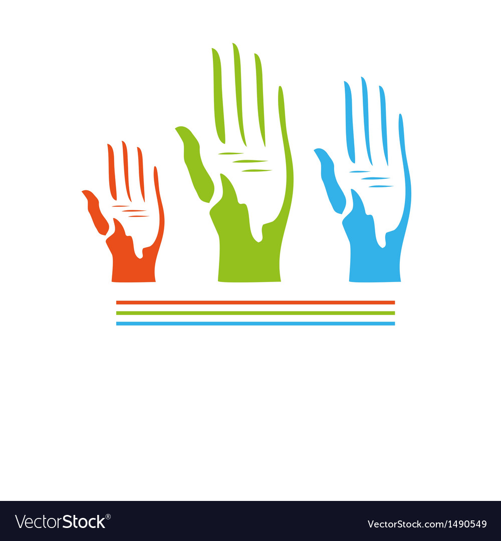 Abstract hands seamless background vector | Price: 1 Credit (USD $1)
