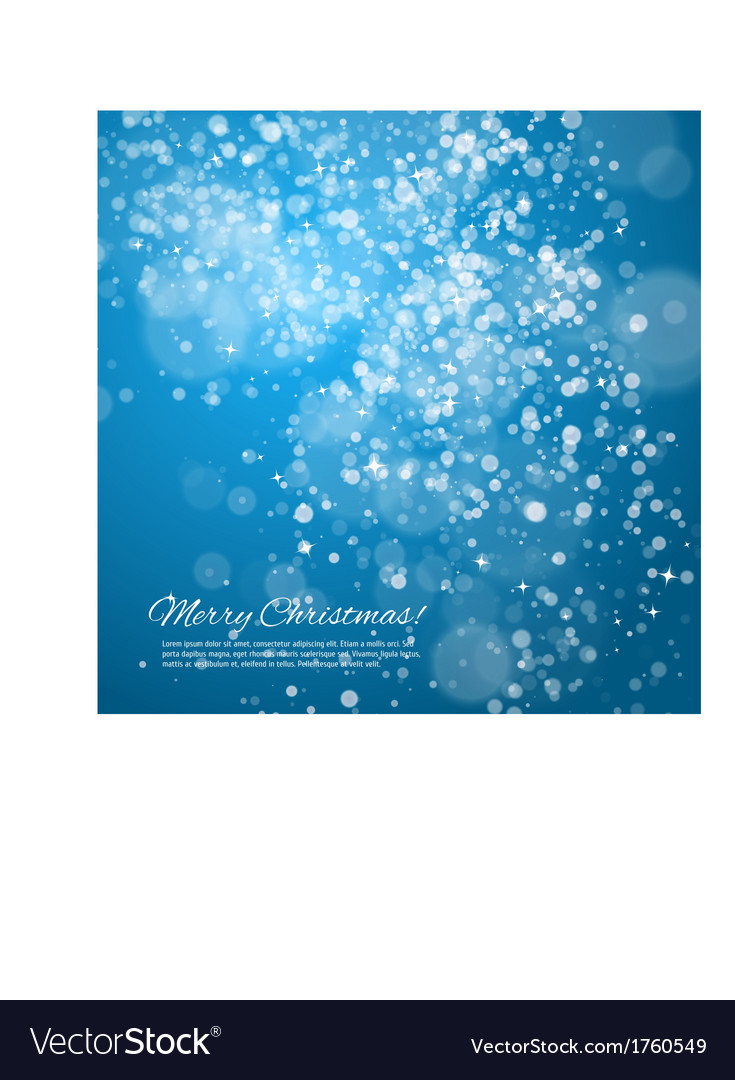 Blue night christmas background vector | Price: 1 Credit (USD $1)
