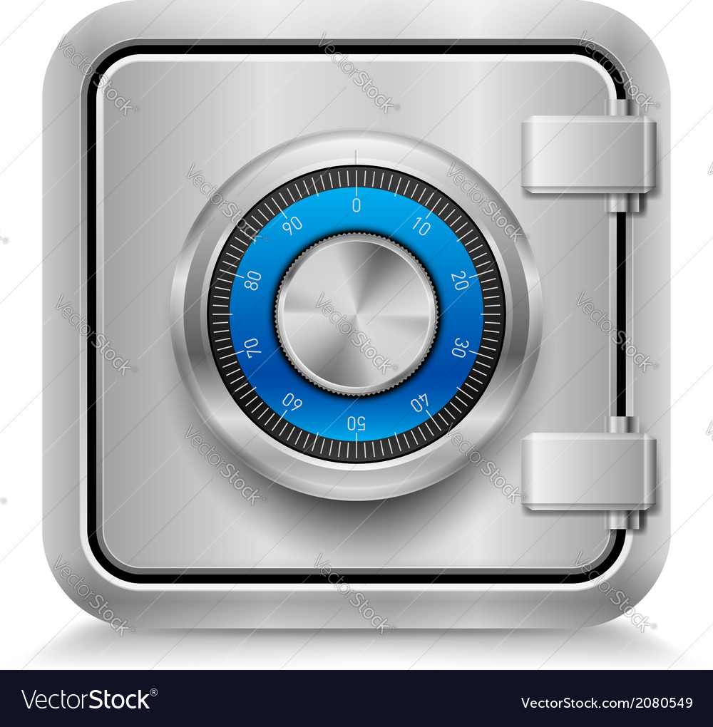 Closed safe vector | Price: 1 Credit (USD $1)
