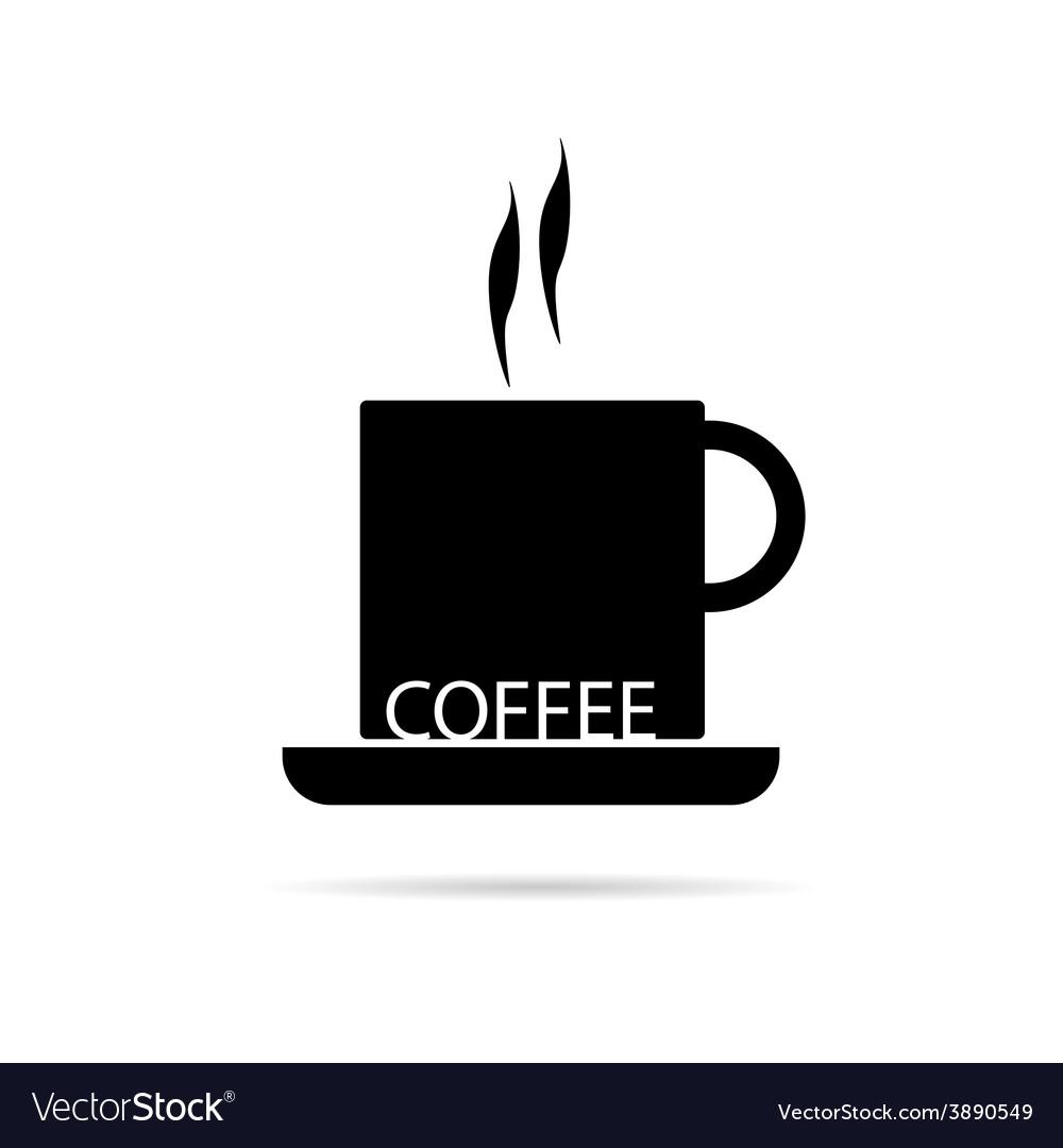 Coffee cup black vector | Price: 1 Credit (USD $1)