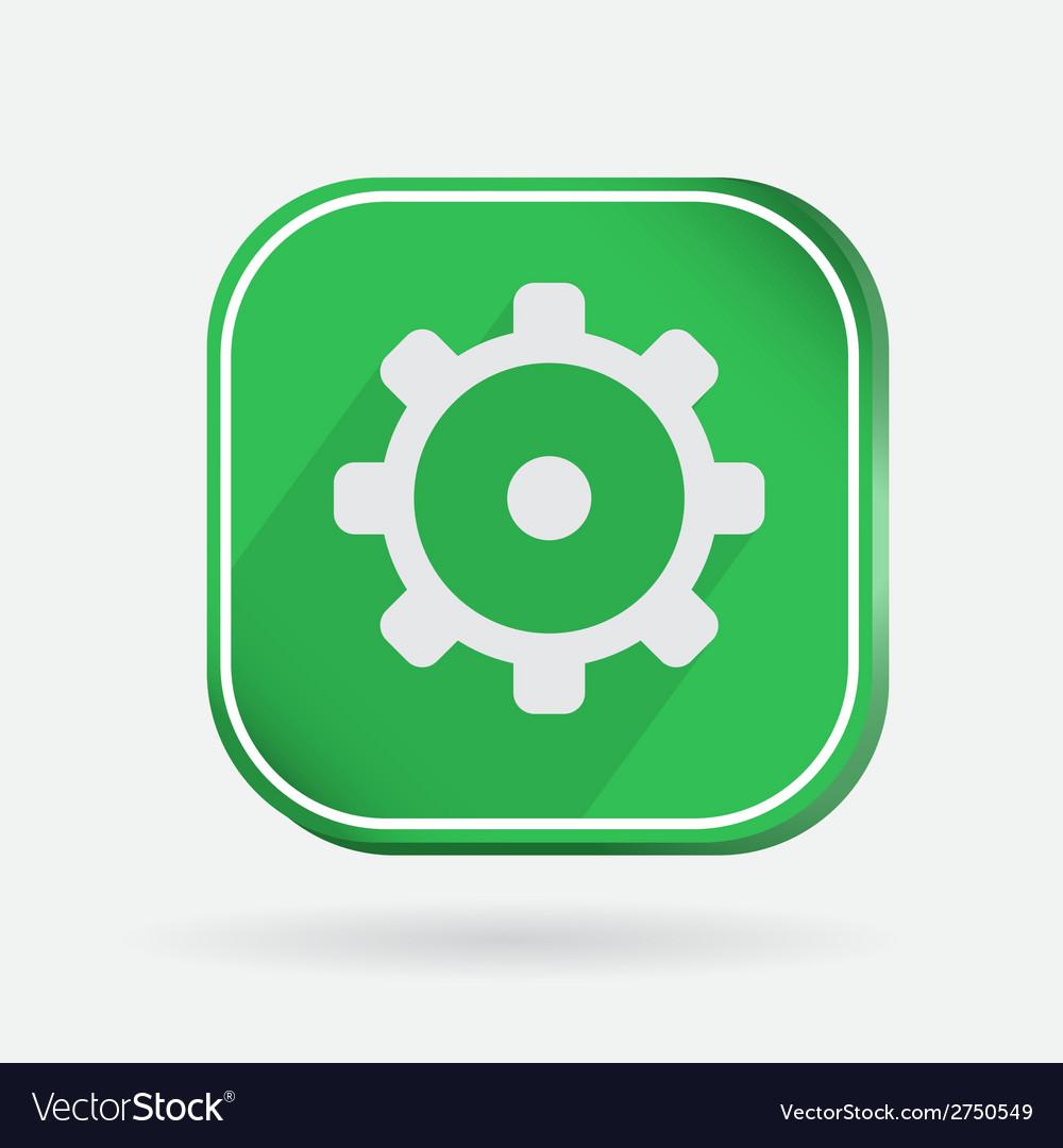 Color icon symbol settings cogwheel vector | Price: 1 Credit (USD $1)