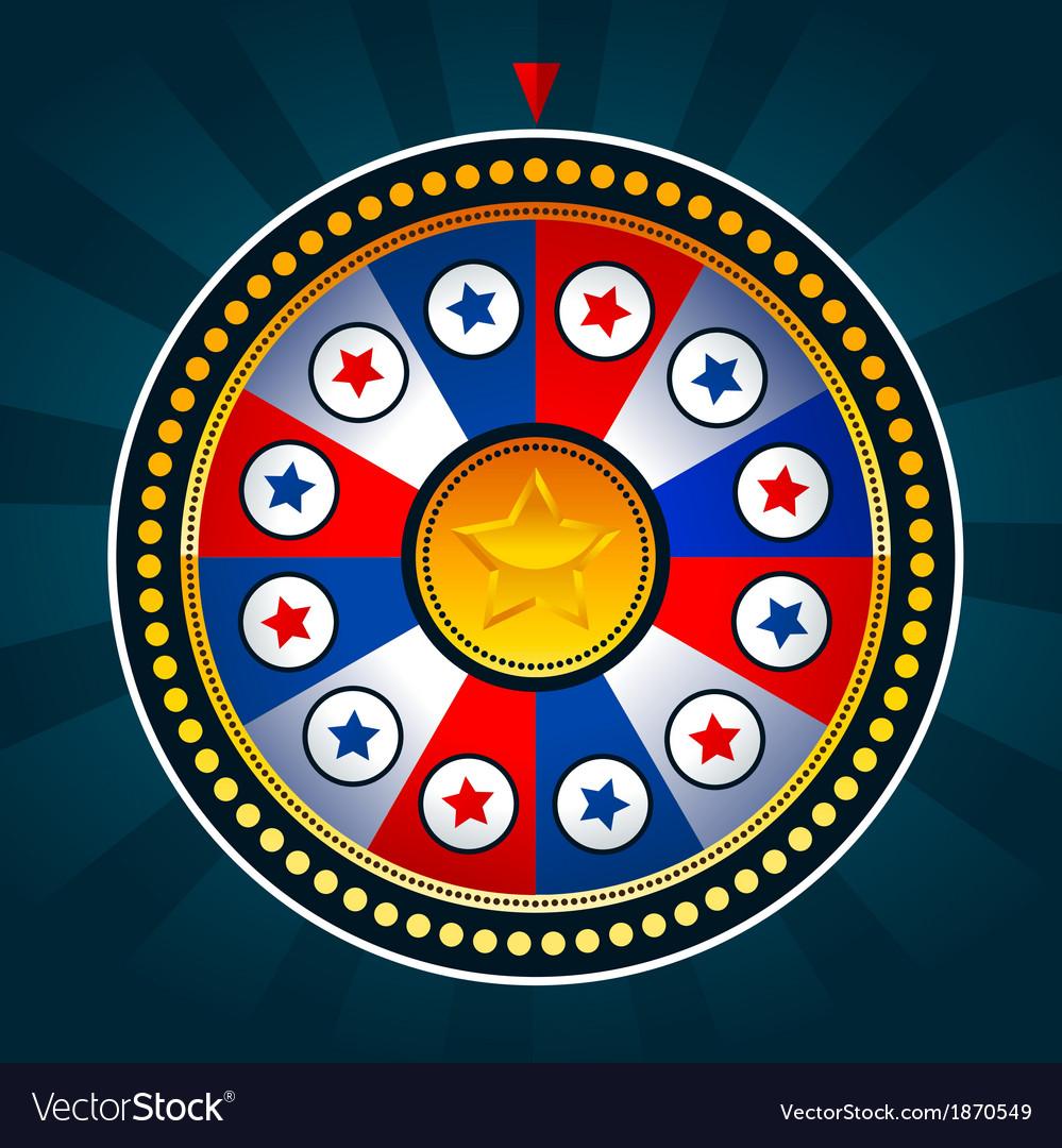 Colorful patriotic wheel of fortune vector | Price: 1 Credit (USD $1)