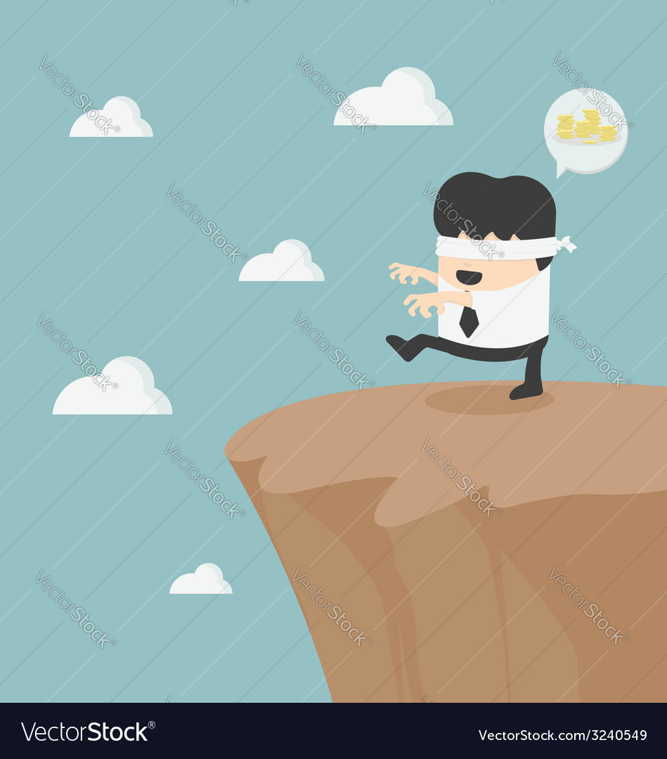 Concept of problem in blindfolded businessman vector | Price: 1 Credit (USD $1)