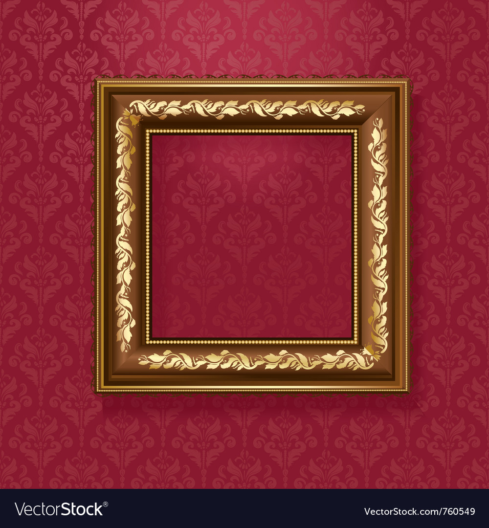 Golden picture frame vector | Price: 1 Credit (USD $1)