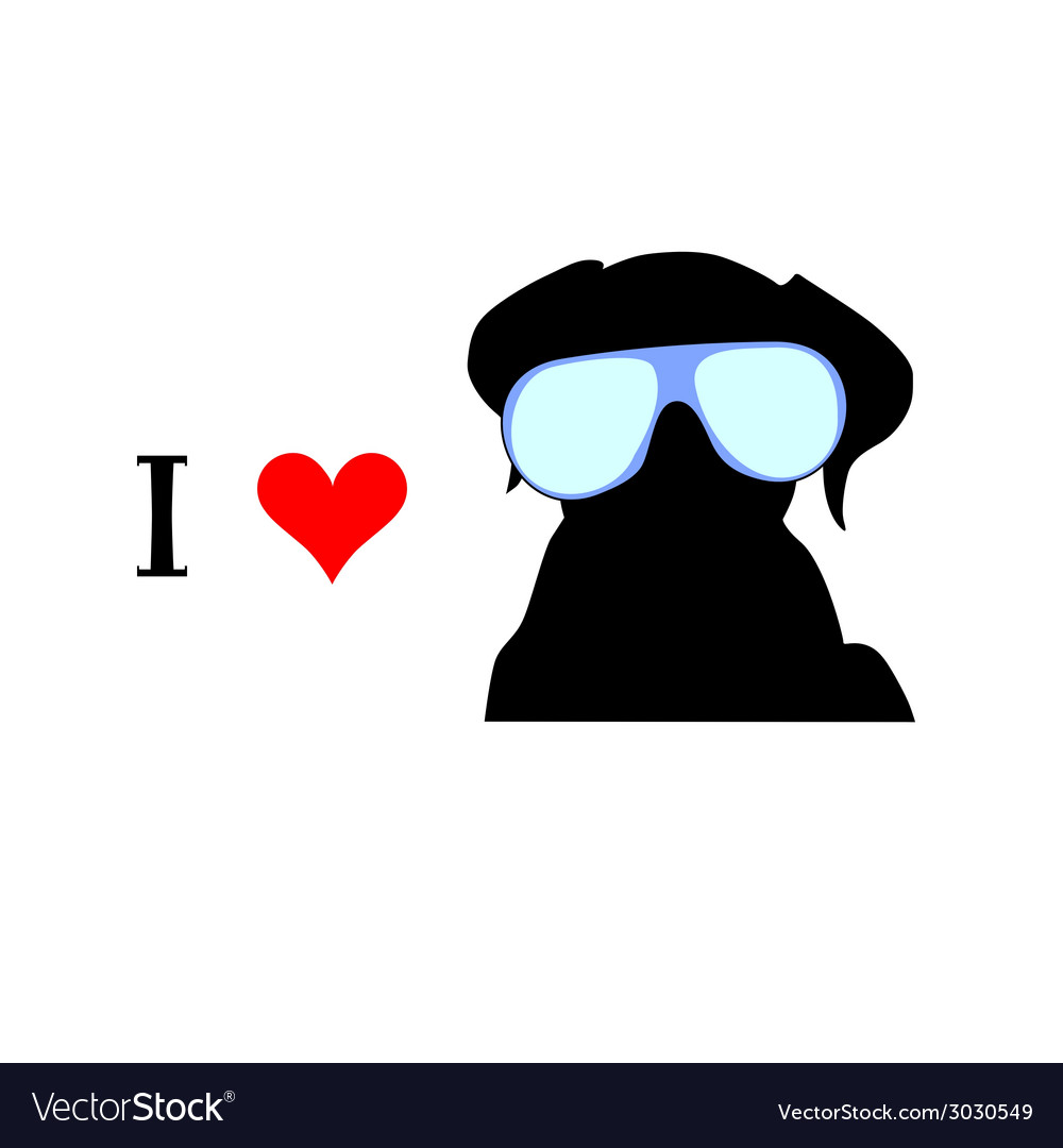 I love dog vector | Price: 1 Credit (USD $1)
