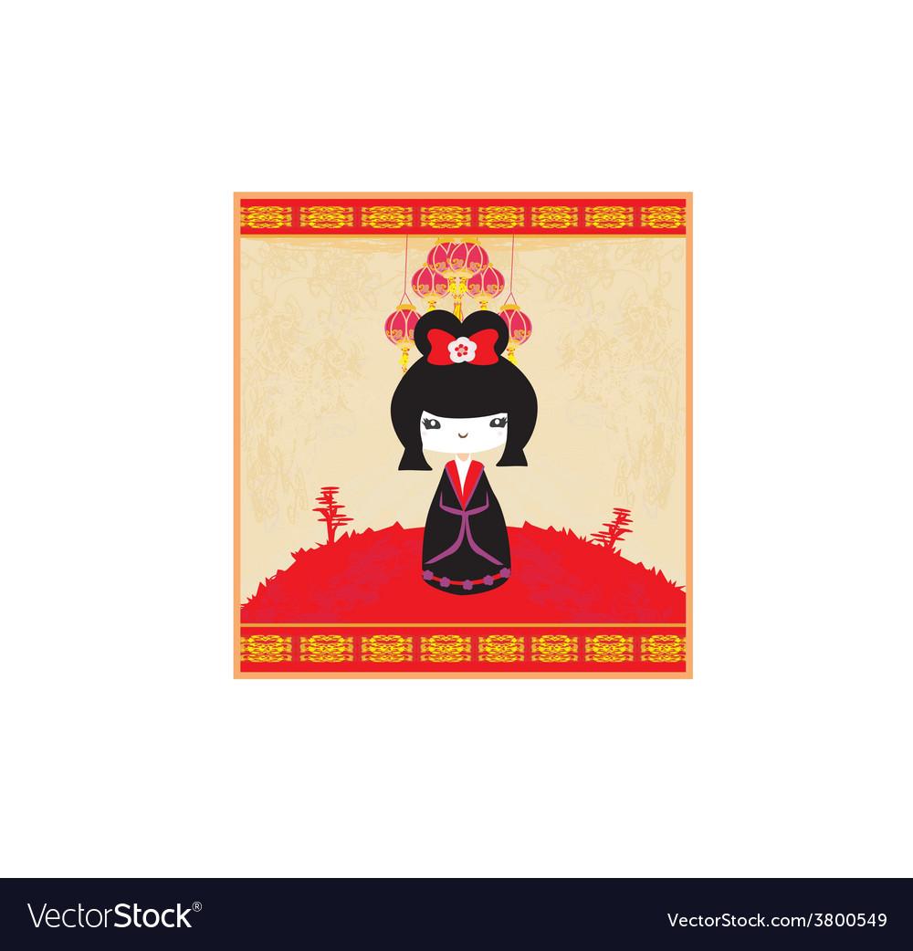 Kokeshi doll vector | Price: 1 Credit (USD $1)