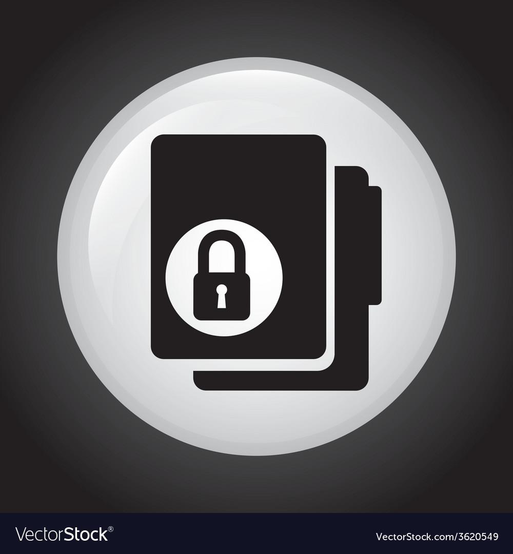 Lock folder design vector | Price: 1 Credit (USD $1)