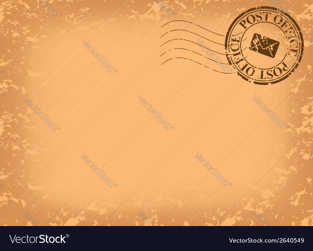 Old postcard with post stamp vector | Price: 1 Credit (USD $1)