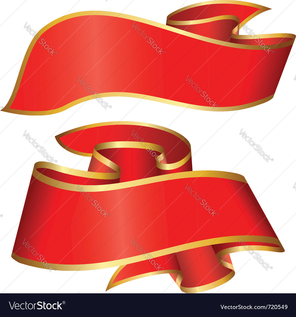 Red ribbon collection vector | Price: 1 Credit (USD $1)