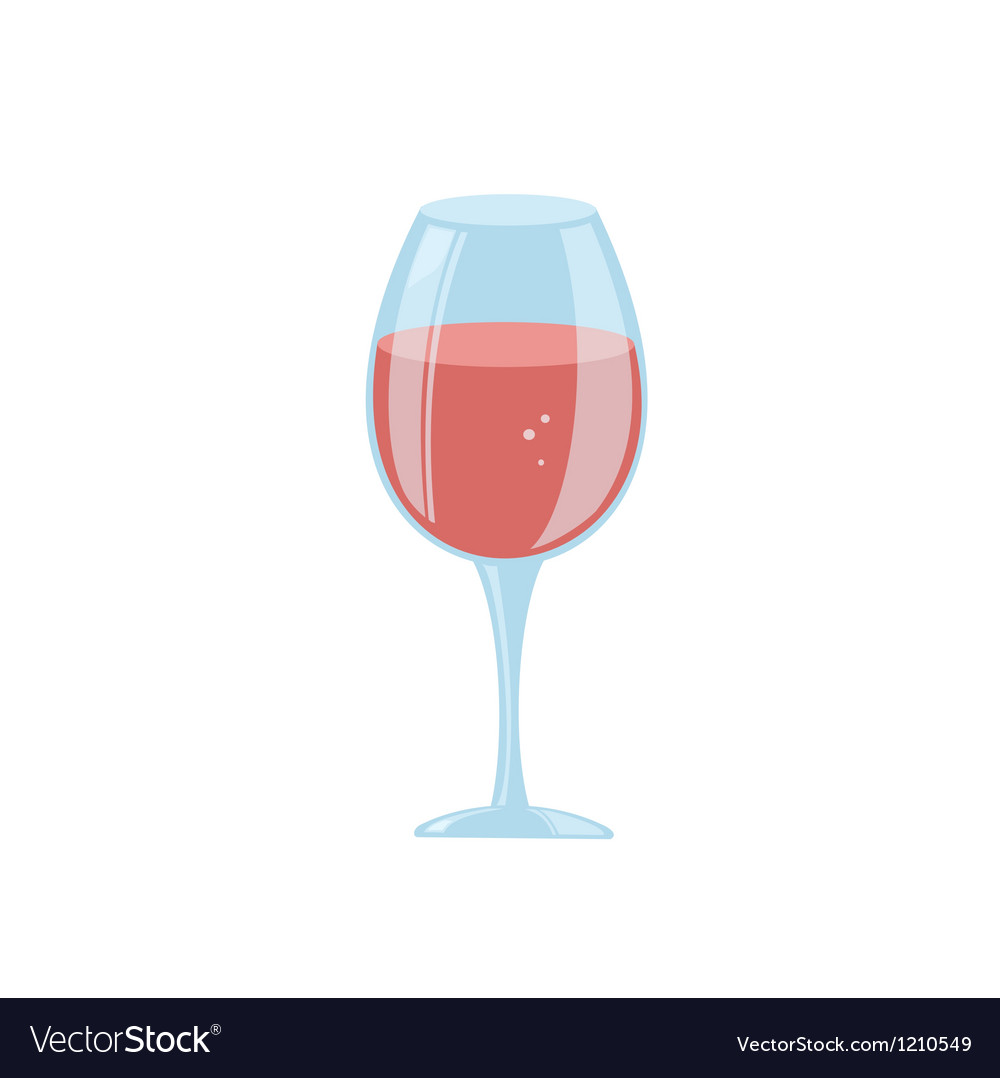 Stylized wine glass vector | Price: 1 Credit (USD $1)