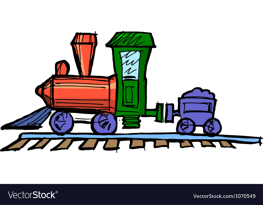 Toy steam engine train vector | Price: 1 Credit (USD $1)
