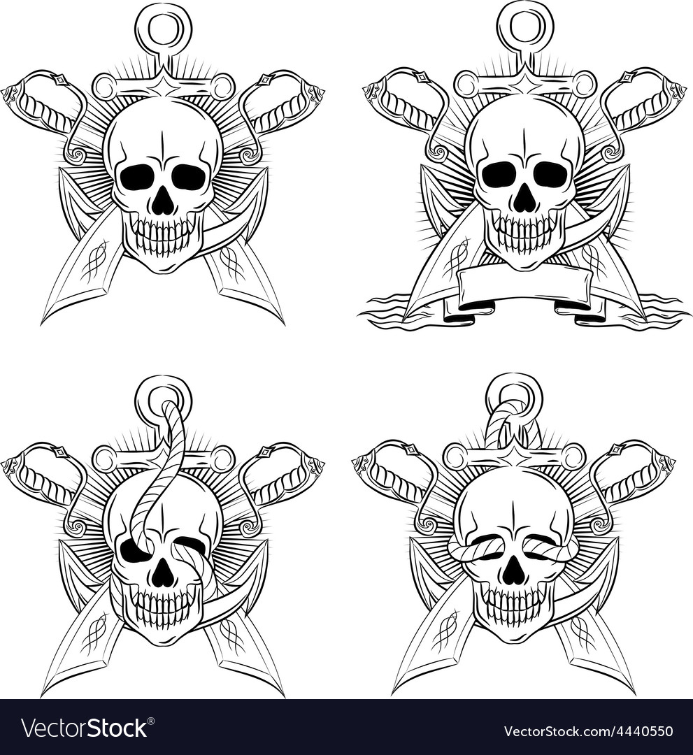Artistic skull design emblem vector   Price: 1 Credit (USD $1)