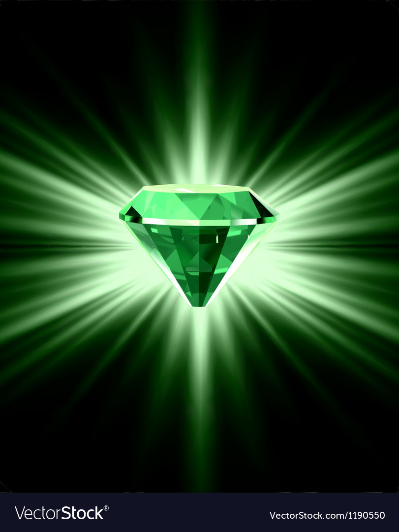 Beautiful green crystal background vector | Price: 1 Credit (USD $1)