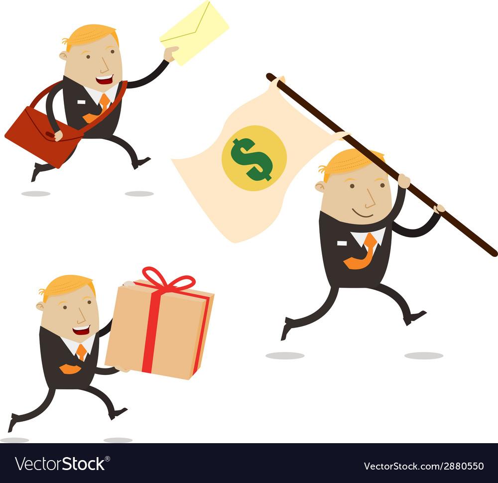 Delivery businessman vector | Price: 1 Credit (USD $1)