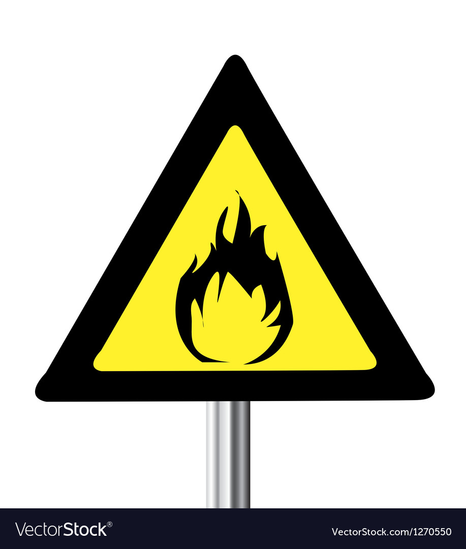 Fire warning sign vector | Price: 1 Credit (USD $1)