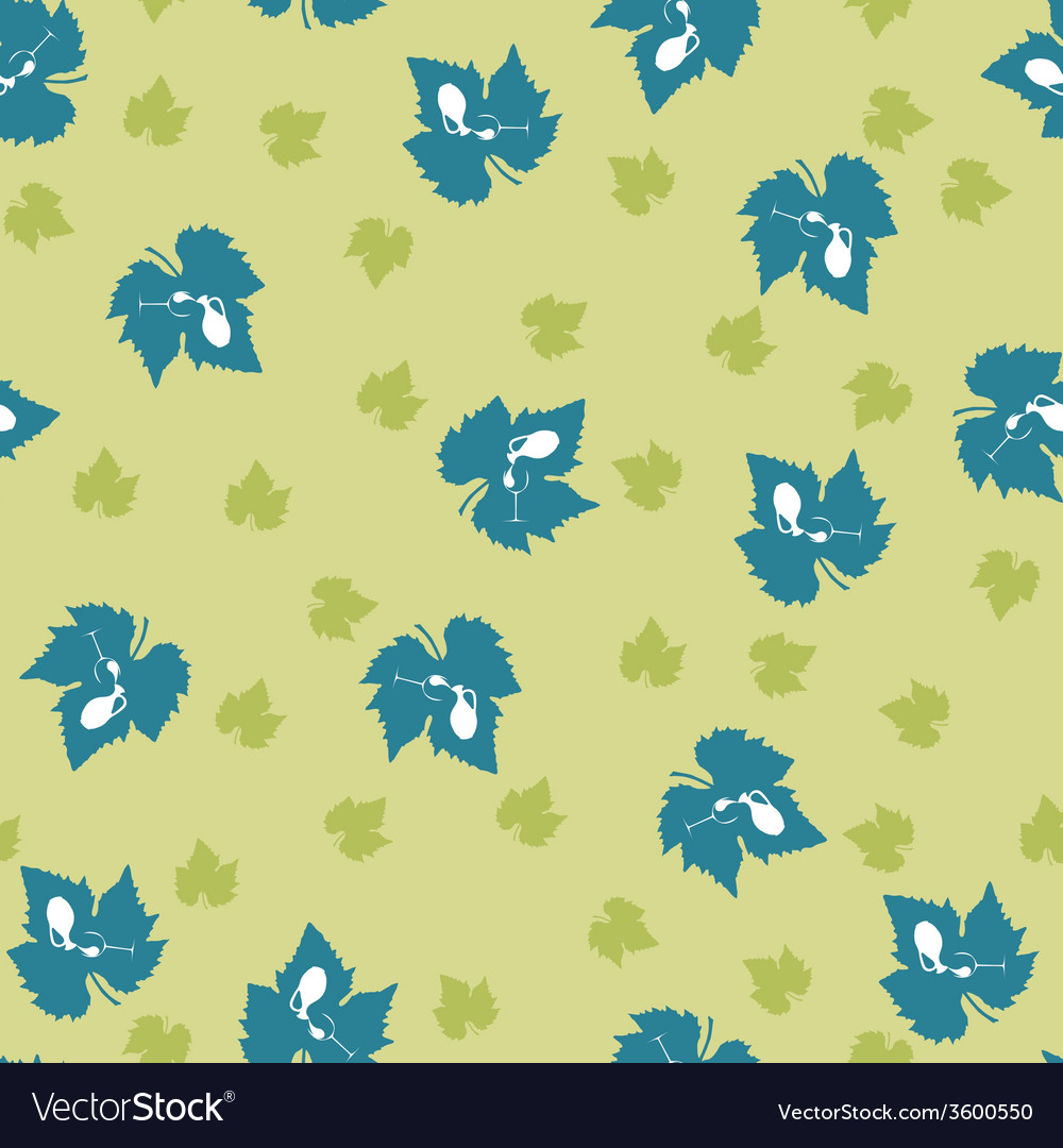 Grape leaf pattern vector | Price: 1 Credit (USD $1)