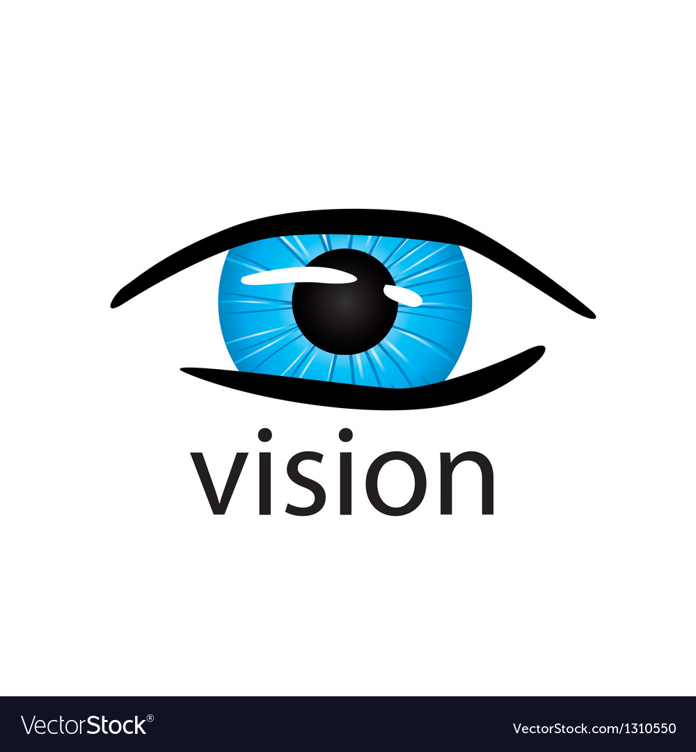 Graphic logo eye close up vector | Price: 1 Credit (USD $1)