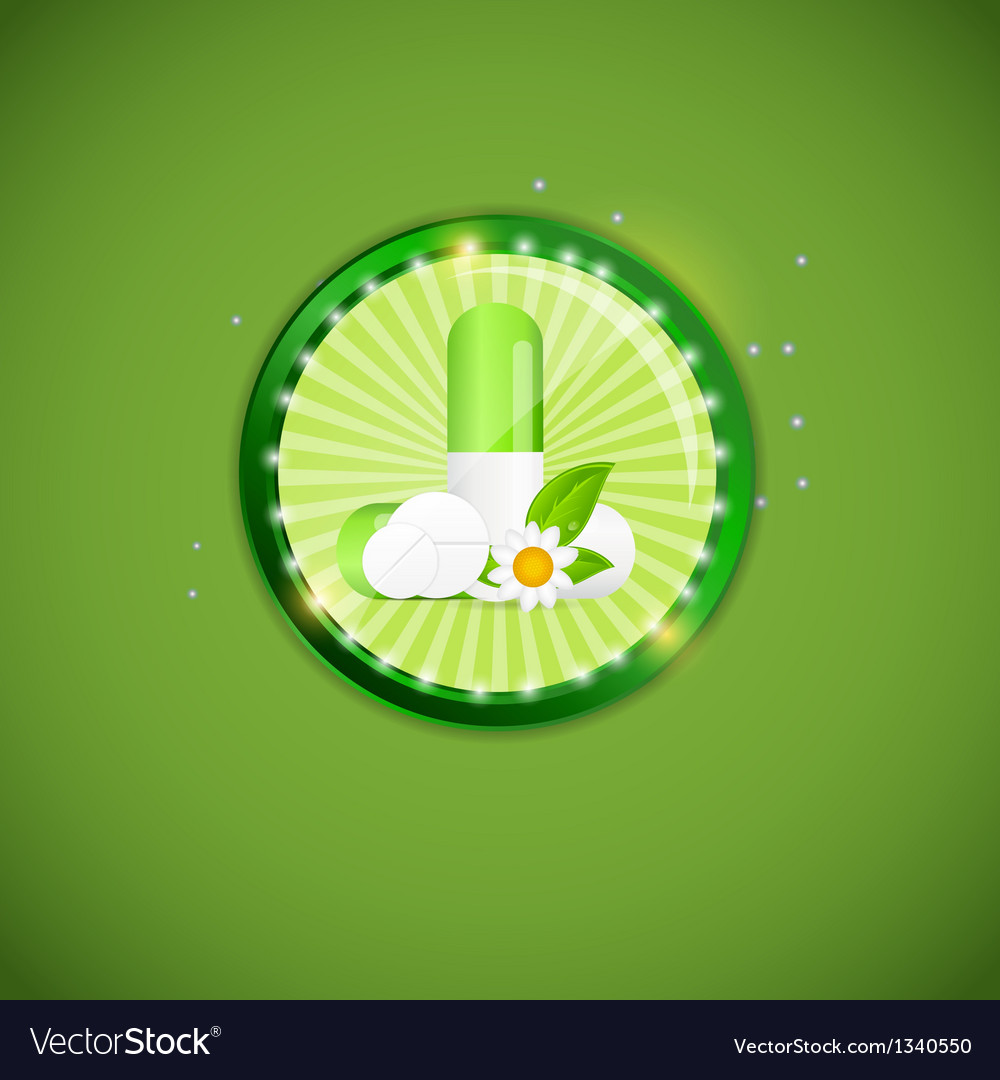 Herbal pill environment background vector | Price: 1 Credit (USD $1)