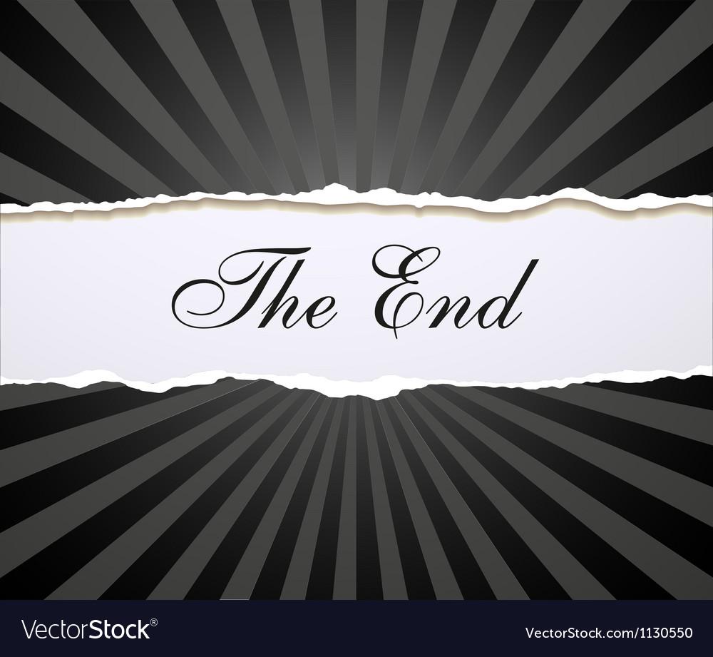 Movie ending vector | Price: 1 Credit (USD $1)
