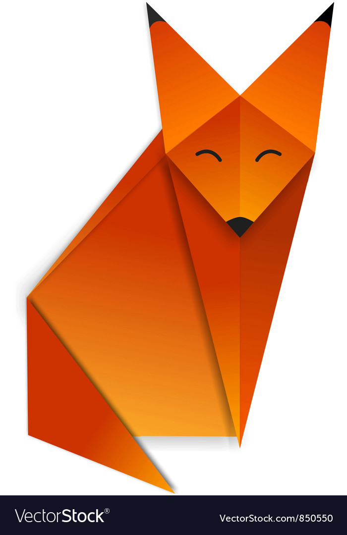 Origami fox vector | Price: 1 Credit (USD $1)