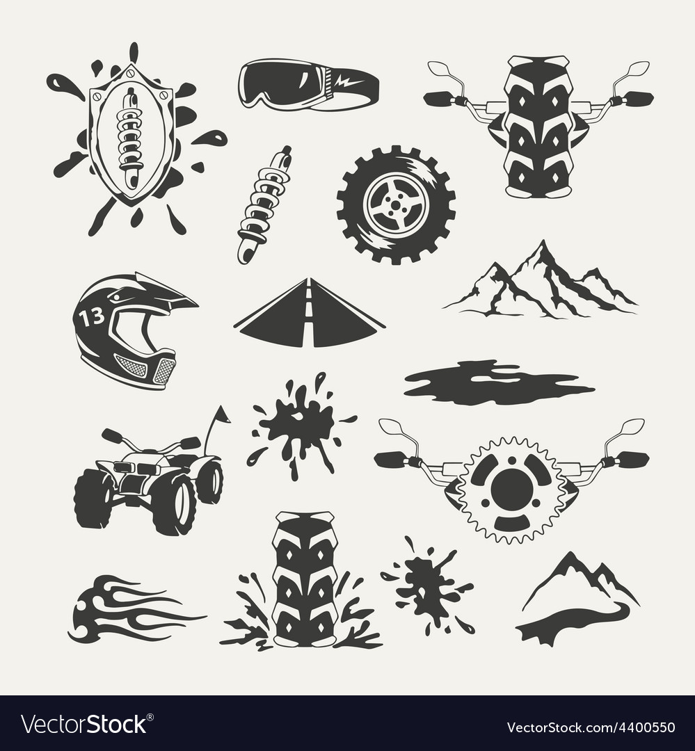 Set of extreme sports emblems badges labels and vector | Price: 3 Credit (USD $3)