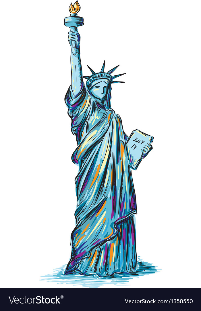Statue of liberty vector | Price: 3 Credit (USD $3)