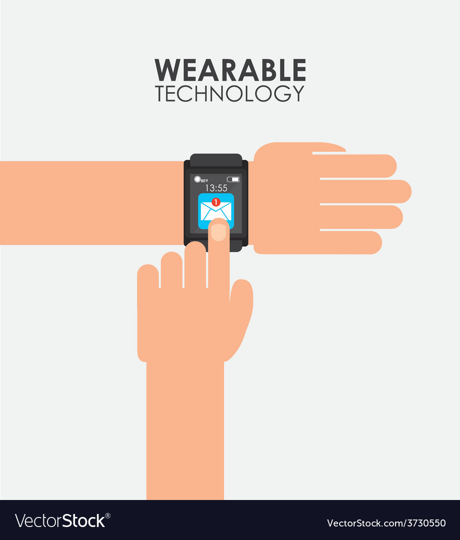 Wearable technology vector | Price: 1 Credit (USD $1)