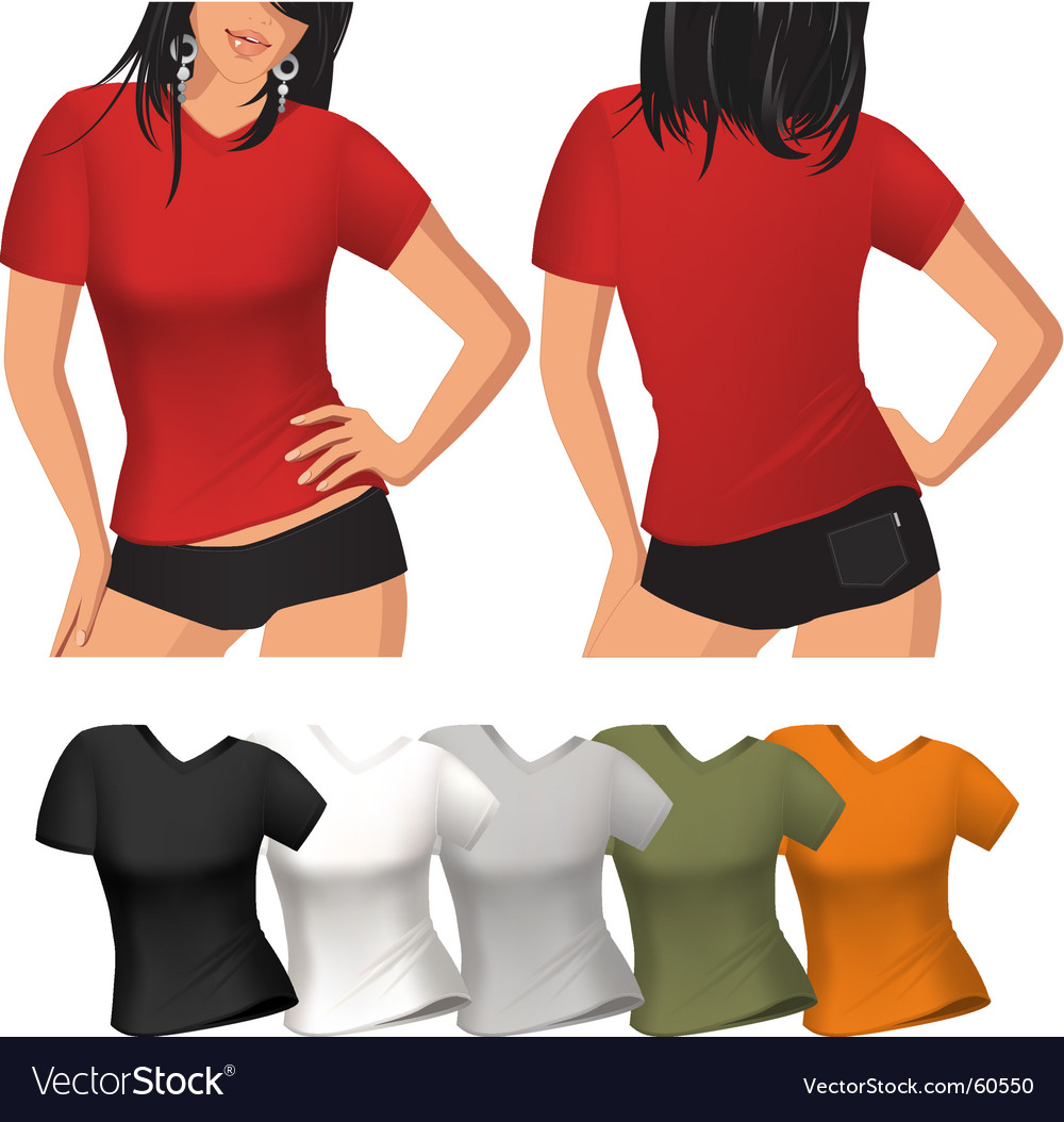 Woman's t shirt vector | Price: 3 Credit (USD $3)