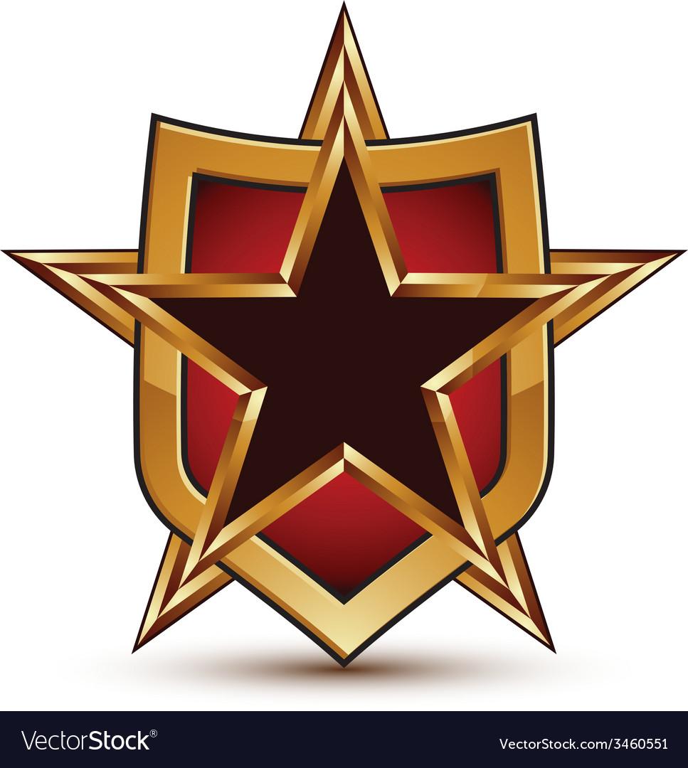Branded golden geometric symbol stylized black vector | Price: 1 Credit (USD $1)
