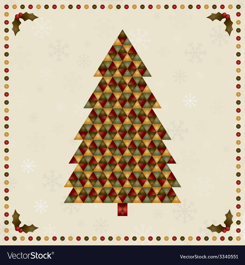 Christmas tree decoration vector | Price: 1 Credit (USD $1)
