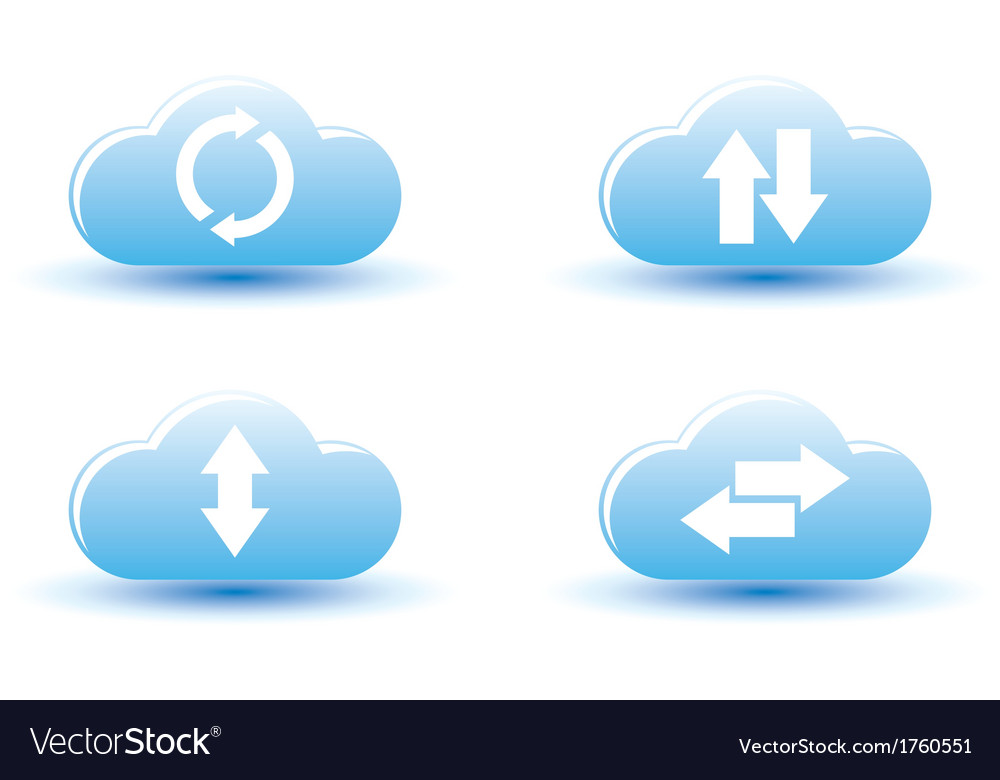 Cloud computing icons vector | Price: 1 Credit (USD $1)