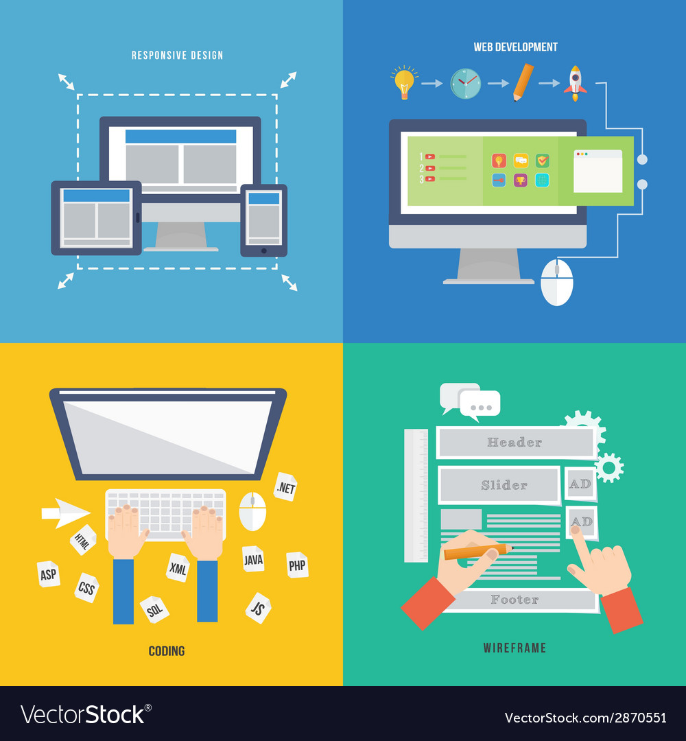 Element of web development concept icon in flat vector   Price: 1 Credit (USD $1)