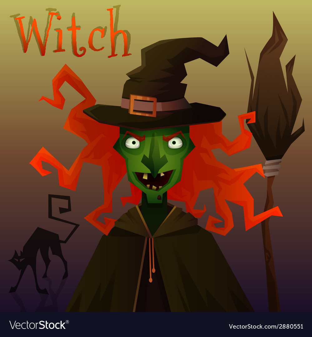 Evil witch vector | Price: 1 Credit (USD $1)