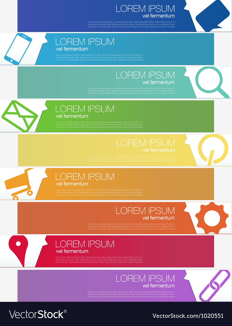 Progress seo infographics banner set vector | Price: 1 Credit (USD $1)