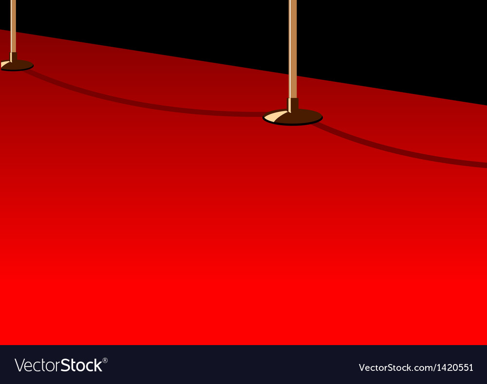 Red carpet background vector | Price: 1 Credit (USD $1)
