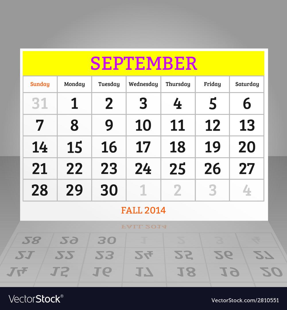 September vector | Price: 1 Credit (USD $1)