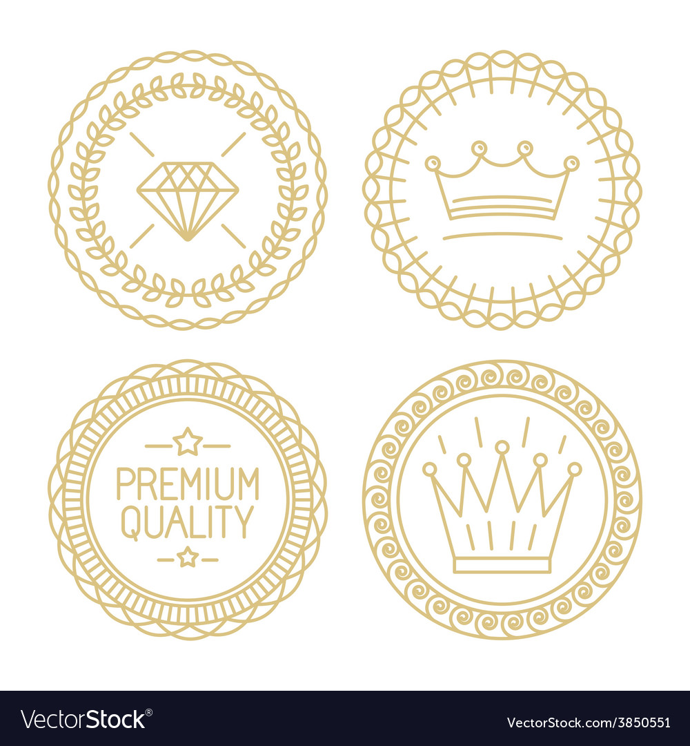 Set of linear badges - premium quality and best vector | Price: 1 Credit (USD $1)
