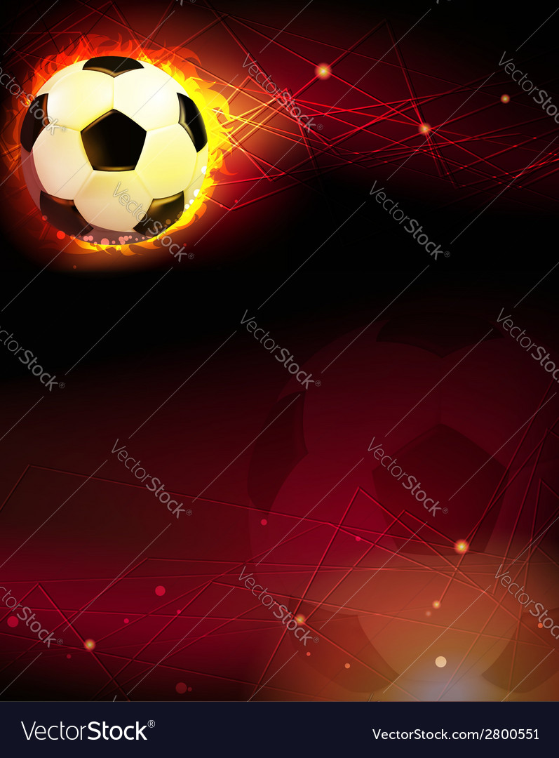 Soccer ball and trail of fire vector | Price: 1 Credit (USD $1)