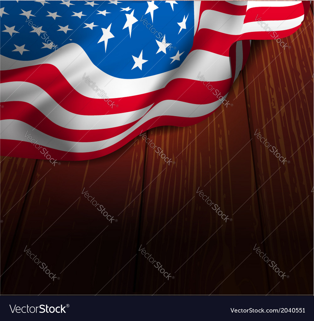 Us flag on a wooden floor vector | Price: 1 Credit (USD $1)