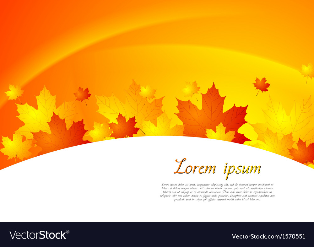 Wavy autumn background vector | Price: 1 Credit (USD $1)
