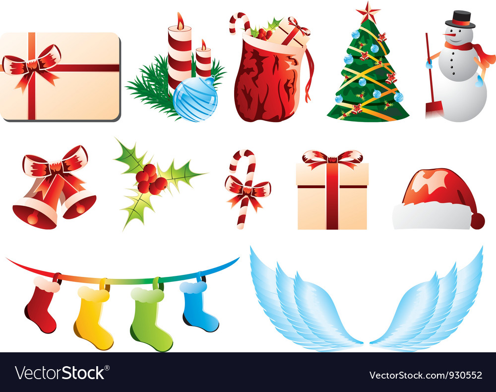 Christmas icons vector | Price: 3 Credit (USD $3)